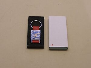 NEW in Box Apple Logo Red Strap Keychain from Apple