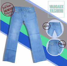 Vargaux's Joo chan Korean Denim Style Men's Regular Fit Pants Size 34