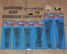 Peco Setrack 00 Gauge code 100 Turnouts Points Straights Curves Rail Joiners