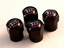 Válvula De Neumático Rueda negro Audi Casquillos De Polvo Set x4 RS antirrobo de S6 A2 S Line A4 SQ5