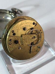 Englische Silbertaschenuhr Hugh Owens 49mm