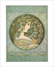 Mucha - Ivy - fine art print vintage poster design - wall art various sizes
