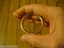 #110 Magic Trick Close Up MINI 100% Solid Brass Ring & Chain! No Sleight of hand