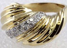 Shrimp Dome Diamond Ring Band 18K Yellow Gold Size 6 3/4 WHOLESALE