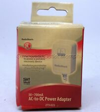 RadioShack #273-023 3VDC 700mA AC-to-DC Adaptaplug™ Power Adapter
