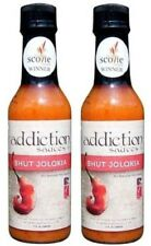 "Addiction Sauces Bhut Jolokia ""Ghost Pepper"" Hot Sauce 2 Bottle Pack"