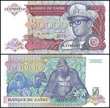 Zaire 50,000 (50000) Zaires, 1991, P-40, UNC