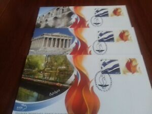 GREECE  2012   OLYMPIQ GAMES   SET OF 5  F.D.C.