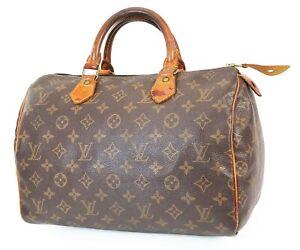 Authentic LOUIS VUITTON Speedy 30 Monogram Boston Handbag Purse #39086