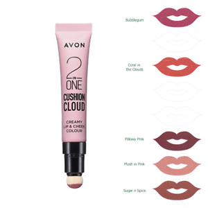 Avon 2 in 1 Cushion Cloud Creamy Lip & Cheek Colour, 10ml, lipstick & blusher