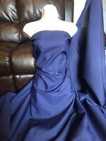 3 Meter Navy Blue Plain polycotton fabric  material 112cm wide