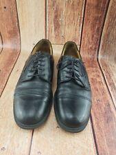 Borelli Men's Black Leather Cap Toe Shoes - Size 11