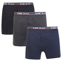 Mens 3 or 6 Boxer Shorts 100% Combed Cotton Underwear Classic S M L XL XXL
