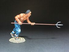 TEAM MINIATURES CHINESE BOXER REBELLION PGBX6005 BOXER ATTACKING WITH TRIDENT