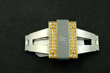 Hublot Watch Clasp 18k gold and steel with diamonds.  Fits 1520 Series. OEM