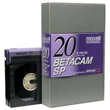 5 x Maxell Professional 20 B-20M BQ Betacam SP Tape