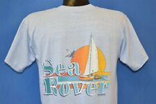vintage 70s SEA ROVER SAILBOAT STAFF ST CROIX CARIBBEAN TOURIST t-shirt MEDIUM M