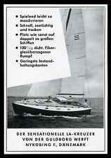 Reklame 1961 Der sensationelle LA-Kreuzer Segelyacht Guldborg Werft Nyköbing DK.