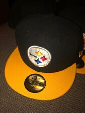 New Era 59Fifty Team Headwear NFL Pittsburgh Steelers Fitted Hat Sz 7 1/4 $35