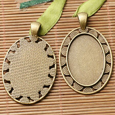 NEW Multi-styles Two-colors cabochon setting design in 20x30mm / 13x18mm to Pick