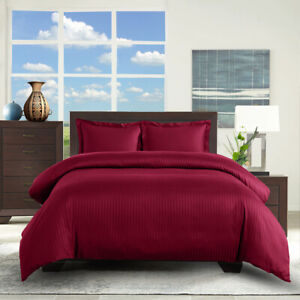 Twin/TwinXL 100% Cotton 300 Thread Count Striped 2PC Comfort Duvet Cover Set