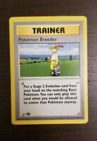 Pokemon WOTC Base Set FIRST 1ST EDITION SHADOWLESS Pokemon Breeder 76/102