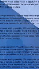 A5 203 Light Blue Coloured Sheet Overlay Dyslexia Transparent Stress reading