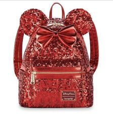 Sac A Dos LOUNGEFLY Disneyparks Rouge Red  Disney Neuf backpack rare