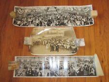 Three Vintage/Antique Convention/Dinner Panoramic Photos