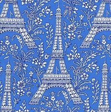 PETITE PARIS Fabric FQ Michael Miller EIFFEL TOWER IN BLUE France Le Tour FRENCH