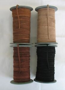 5metres of FLAT SUEDE LEATHER CORD 3mm