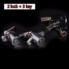 3 KEYS Saddlebag Lock Set for Harley Davidson Touring Electra Glide Road King