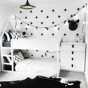 Cross Shape Wall Stickers Children's Bedroom Kids Nursery Crosses Nordic Decal
