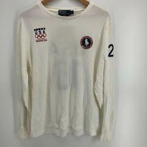 Polo Ralph Lauren Long Sleeve T-Shirt Men's L White Team USA 2010 Olympics