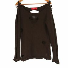 Tiger Lily Brown Knit Distressed Sweater - Size 6