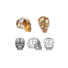 Swarovski Crystal Glass Beads Faceted Skull 5750 Metallic Sunshine 19x18x14mm