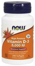 Now Foods Vitamin D3 5000 IU 240 Softgels - ( Vitamin D-3 Highest Potency )