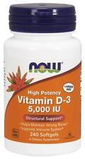 Now Foods Vitamin D3 5000 IU 240 Softgels - ( Vitamin D-3 Highest Potency )