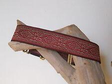 Kasmir Red Jacquard 1 1/2 Inch Custom Made Martingale Dog Collar