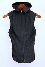 Women Black Denim Top By French Designer Tim Bargeot Paris Size Eu 40 US 8