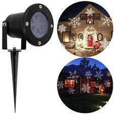 LED Moving Snowflake Outdoor Landscape Laser Projector Lamp Garden Xmas Light