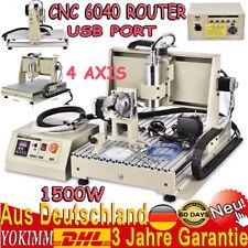 USB CNC 6040 Fräsmaschine 4 Achse Grävermaschine Router Maschinen 1500W 3d VFD