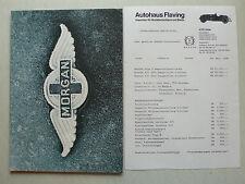Prospekt morgan 4/4 1600 2-and 4-seater, plus 8, aprox. 1988, 12s. + precios, inglés