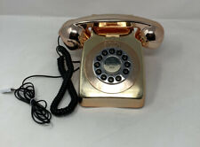 Vintage Retro Rose Gold Two Tone Land Line Telephone Modern Glam Kitsch