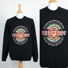 VINTAGE 90'S BLACK MANCHESTER UNITED RED DEVILS SWEATSHIRT FOOTBALL SWEATER XL