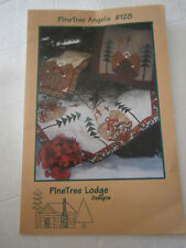 Pine Tree Angels Christmas Tree Skirt Table Runner Wallhanging Quilt Pattern