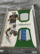 2016 MARIOTA / HENRY PANINI FLAWLESS DUAL PATCH ROOKIE EMERALD /5 TITANS