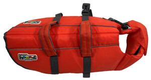 Dog Swim Life Jacket Safety Size M 30-55 Pounds Bright Orange Outward Hound
