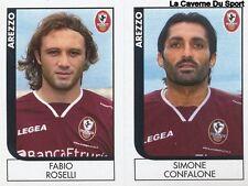 496 ROSELLI/CONFALONE ITALIA AREZZO SERIE B STICKER CALCIATORI 2006 PANINI