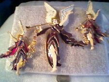 LUNCH AT THE RITZ ANGEL GABRIEL PIN/PENDANT AND EARRINGS CLIP